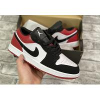 Кроссовки Air Jordan 1 Low Black Toe